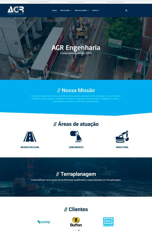 AGR Engenharia - Criação Sites Rápidos