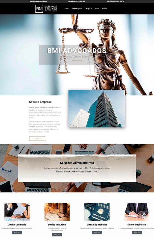 BMI Advogados - Criação Sites Rápidos