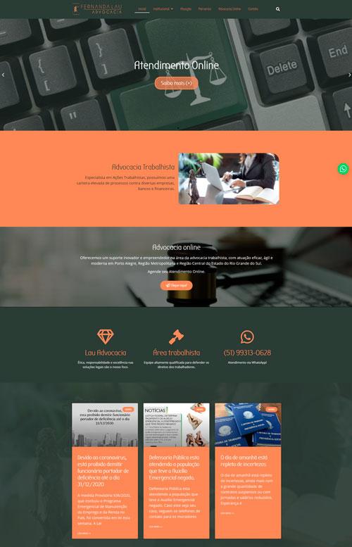Lau Advocacia - Criação Sites Rápidos