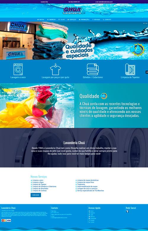 Lavanderia Chuá - Criação Sites Rápidos