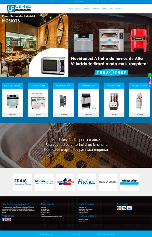 Luis Felipe equipamento - Criação Sites Rápidos