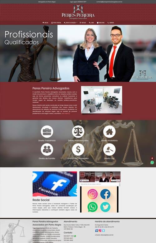Peres Pereira Advogados - Criação Sites Rápidos