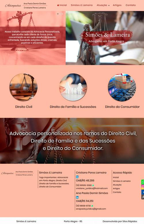 Simões e Lameira Advocacia - Criação Sites Rápidos